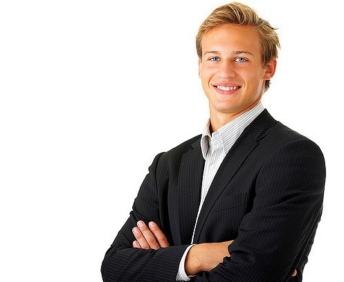 Portrait, young business man