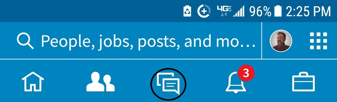 navigation bar app Messaging