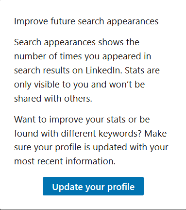 Improve Your profile
