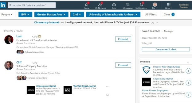 how to find recruiters on linkedin 2018
