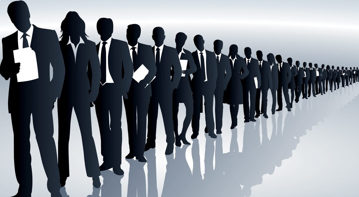 job seeker balck and white