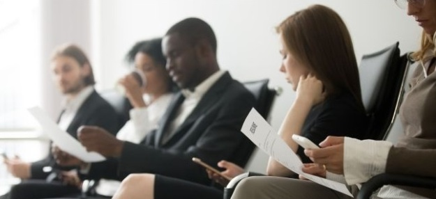 Job Seekers sitting
